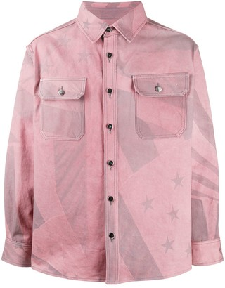 424 Star Print Denim Jacket