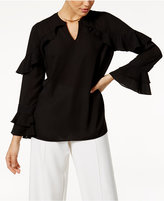 Alfani PRIMA Ruffle-Sleeve Top, Created for Macy's