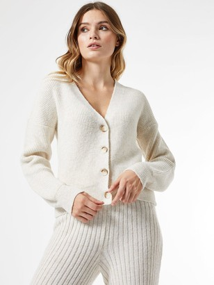 Dorothy Perkins Knitted Through Button Cardigan - Cream
