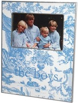 The Well Appointed House Light Blue Toile Decoupage Photo Frame-Can Be Personalized