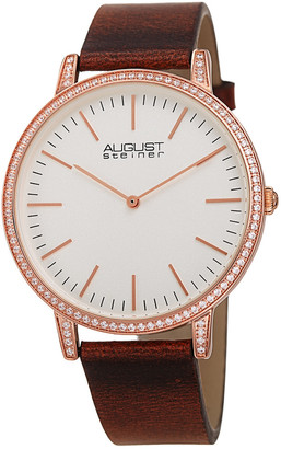 August Steiner Men's Leather Watch