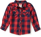 Levi's Baby Girls 12-24 Months The Western Long-Sleeve Plaid Shirt
