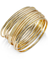 INC International Concepts Gold-Tone Textured Bangle Bracelet Set