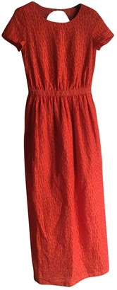 Sessun Red Cotton Dress for Women