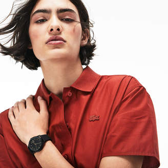 Lacoste Ladies Lacoste.12.12 Watch with Black Silicone Petit Pique Strap
