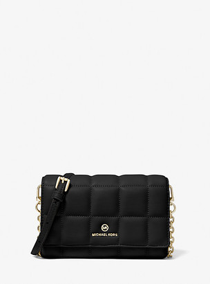 MICHAEL Michael Kors MK Small Quilted Leather Smartphone Crossbody Bag - Black - Michael Kors