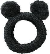 Eugenia Kim Mies Chunky Hand-Knit Headband w/Pom Poms