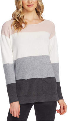 Vince Camuto Colorblocked Waffled Sweater