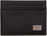 Dolce & Gabbana Black Leather Card Holder