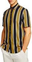 Topman Stripe Viscose Shirt