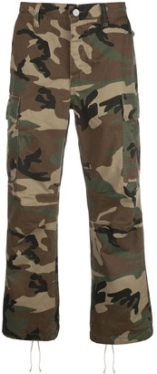 Purple Brand Camouflage Print Multi-Pocket Trousers