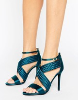 Forever Unique Claudia Cross Strap Heeled Sandal