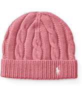 Ralph Lauren Slouchy Cable-Knit Cotton Hat