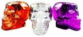 Gerson Halloween Skull Mercury Glass Tealight Holder Set of 3