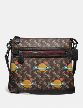 Coach Olive Crossbody With Horse And Carriage Print And Planets