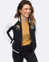 Roxy Womens Perfect B Embroidered Bomber Jacket