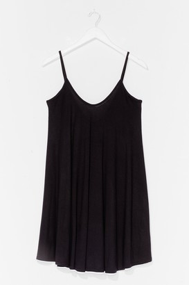 Nasty Gal Womens Swing By Relaxed Mini Dress - Black