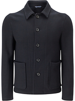 Jigsaw Italian Double Faced Jacket, Navy