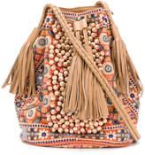 Antik Batik embroidered detail tassel bucket bag