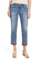 Wit & Wisdom Women's Embroidered Slim Crop Jeans