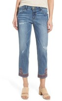 Women's Wit & Wisdom Embroidered Slim Crop Jeans