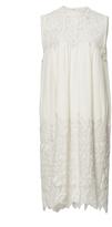 Sea Cream Embroidered Sleeveless Dress