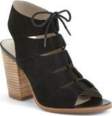 Hinge 'Drea' Peep Toe Leather Sandal (Women)