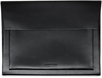 Burberry Leather Laptop Envelope Bag