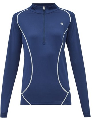 Perfect Moment Half-zip Roll-neck Technical-jersey Top - Womens - Navy