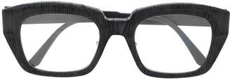 Kuboraum Textured Rectangular-Frame Sunglasses