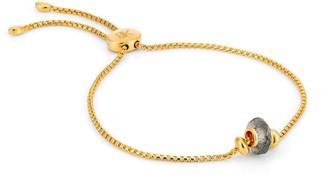 Katie Belle Libbie 18ct Gold Vermeil Gemstone Charm Bracelet - Labradorite