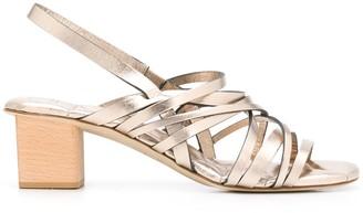 Del Carlo Strappy Block Heel Sandals