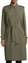 Michael Kors Button-Front Belted Trench Coat, Juniper
