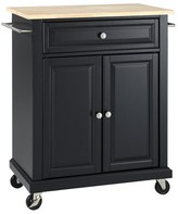 Crosley Wood Top Portable Kitchen Cart Wood/Black