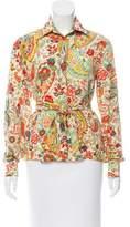 Agnona Silk Button-Up Top