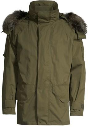 Yves Salomon Fox Fur-Trim Hooded Parka