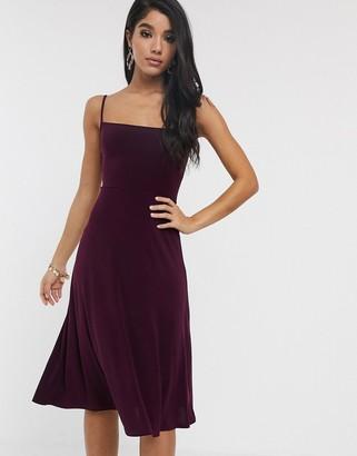 TFNC straight neck skater dress-Purple