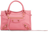 Balenciaga Classic City Mini Textured-leather Tote - Pink