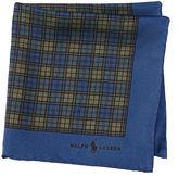 Polo Ralph Lauren Plaid Silk Twill Pocket Square
