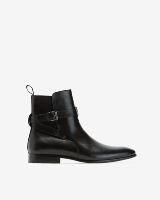 Express Western Leather Dress Boots