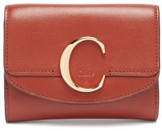 Chloé The C Logo Leather Wallet - Tan