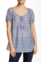 Joie Tanger Printed Peasant Blouse