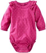 Osh Kosh Woven Ruffle Bodysuit (Baby) - Pink-24 Months