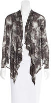Helmut Lang Abstract Print Draped Cardigan