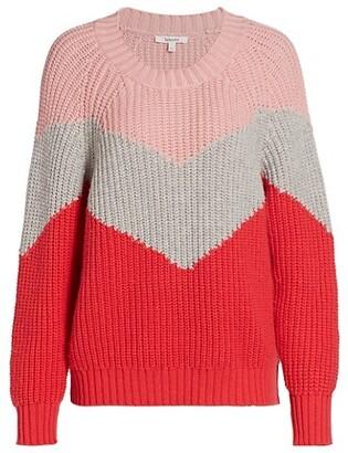 Splendid Loveland Colorblock Chevron Wool-Blend Sweater