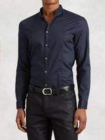 John Varvatos Cotton Shirt with Layered Collar