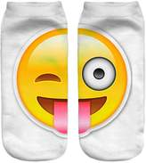 Jiayiqi Elvish Make a Face Facial Expressions Crew Socks Iphone Chat Emoji Short Socks