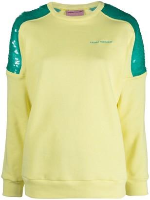 Chiara Ferragni Sequined Panelled Sweatshirt