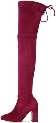 Stuart Weitzman 90mm Kirstie Stretch Suede Boots