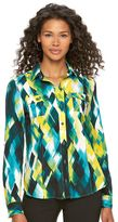 Dana Buchman Women's Roll-Tab Camp Shirt